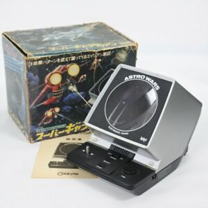LCD SUPER GALAXIAN Boxed Handheld Game Astro Wars Epoch Tested JAPAN