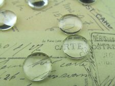 "50 Round Glass Cabochons - 12mm - Clear Magnifying Dome Cabs - Craft 1/2"" Inch"