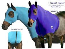 DRESS CIRCLE Lycra Bib 'N' Hood horse pony skinny show neck rug zip 4'9 - 5' XS