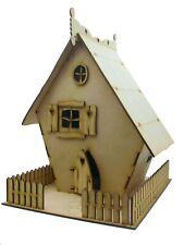 Wooden Fairy House Opening Fairy Door Large Crooked House Fairy Garden DIY Kit