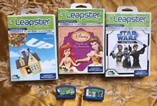 Leapster 5 Games Up, Toy Story, Write And Draw, Jedi Maths And Worlds Of Enchart