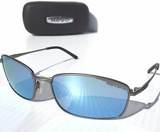 NEW* REVO SCOUT w POLARIZED Blue Lens In Light PEWTER Wire Sunglass RE 5004x