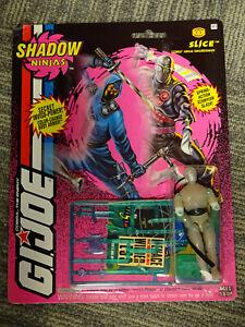 Hasbro 1993 G.I. Joe Shadow Ninjas Slice Action Figure MOC