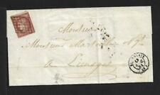 FRANCE 1851 1FRANC ON COVER TO LIMOGES