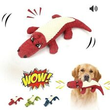 New listing Dog Toys Plush Crocodile Chew Squeaky Toy for Small Large Dog Chew Bite Cleaning