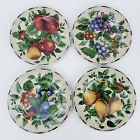 """Set Of 4 Sakura By Oneida Sonoma Excell Casual Dining 8"""" Fruit Dinner Plate"""