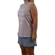 Women's Stussy Cudi Scalloped Muscle/Singlet Pink