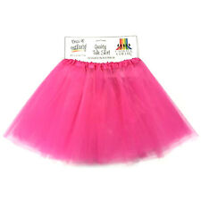 Adult 4 Layer Hot Pink Tulle Skirt 80's Dance Tutu Hen's Party Costume