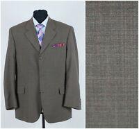 Mens HORKAELASTA SIZE UK 42R Vintage Check Wool Brown Sport Coat Blazer Jacket