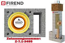 Schornstein Bausatz 5,02 m DN 16 mit Z- Schacht  Kamin Keramik Massiv 3-schalig
