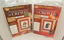 Vintage Crown Elegance Royal Doulton Figures in Crewel Needlepoint Matching Pair