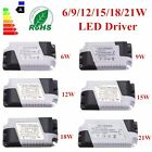 New Dimmable LED Light Lamp Driver Transformer Power Supply 6/9/12/15/18/21W