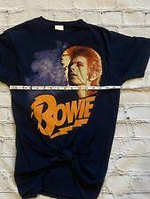 Women's C6628 Vtg David Bowie Rock Pop Concert Tour Graphic T-Shirt Size Medium