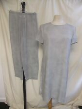 Vestito da Donna Tunica Lunga & Pantaloni MAX MARA, UK 12, grigio chiaro seta, foderato 2060