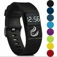 Digital Wrist Sport LED Watch Kids Boy's Girls Men Women Children Gifts Present
