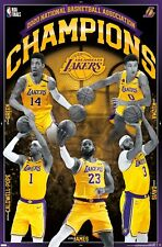 EBAY EXCLUSIVE - NBA Los Angeles Lakers - 2020 NBA Finals Champions Poster