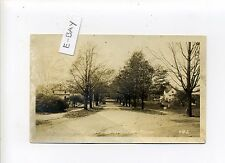 Braintree MA Mass RPPC real photo Monatiquot Ave, street view, homes, 1927