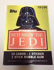STAR WARS VINTAGE WRAPPER (PLATE) /99 (Series 1) VADER - Return of the Jedi 40th