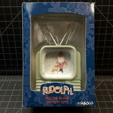 New - Enesco #104288 - Rudolph and the Island Misfit Santa on Tv Ornament Nos