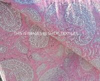 Indian Hand Block Print Pure Fabric Running 3 Yard Sanganeri Cotton New Vintage