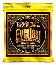3 Pack! Ernie Ball 2556 Everlast Coated Acoustic Guitar Strings Medium Light