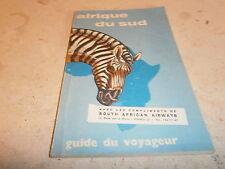 Guide du voyageur en Afrique du Sud année 1961
