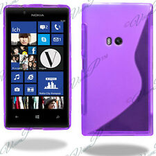 ACCESSOIRES HOUSSE ETUI COQUE SILICONE GEL TPU S VIOLET Nokia Lumia 920