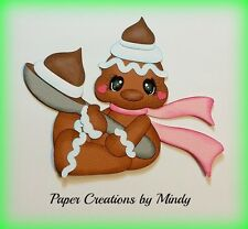 CRAFTECAFE MINDY GINGERBREAD MAN CHRISTMAS premade paper piecing for scrapbook
