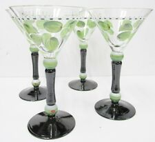 Blue Sky BZ50103 - Hand Painted Martini Glasses - Set of Four - Brand New