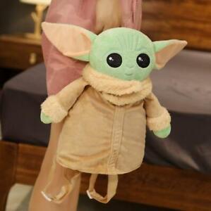 Baby Yoda Plush Backpack Star Wars Mandalorian Girl's School Bag Doll Kids Toy