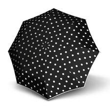 Umbrella by Knirps - T2 Duomatic Dot Art Black/White