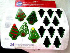 24 Cavity Silicone Bite Size Mini Christmas Tree Mold Great Gift for the Baker