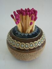 ROYAL DOULTON - LAMBETH - Antique Stoneware Match Striker - U.K. - Circa 1910