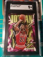 1996-97 Skybox Z-Force #11 Michael Jordan Sgc 9 MT Basketball Card