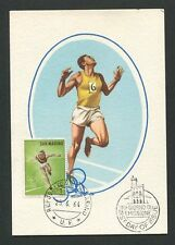 SAN MARINO MK 1964 OLYMPIA OLYMPICS MAXIMUMKARTE CARTE MAXIMUM CARD MC CM d8500
