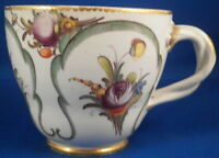 Antique 18thC Nymphenburg Porcelain Floral Cup Porzellan Blumen Tasse German