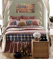 INDEPENDENCE King Quilt Patchwork Americana USA Stars Stripes Plaid Rustic Check