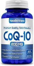 CoQ-10 200mg 200Capsules Coq10 Co Q10 Coenzyme Anti Aging Cardiovascular MadeUSA