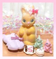 ❤️Vtg Li'l Lil Litters My Little Bunny Pony MLP FANCY FLOPPY Mommy Baby Rabbit❤️