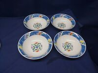 """Tabletops Unlimited Stoneware """"Nicole"""" Set/4 Soup/Cereal Bowls Retired"""