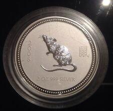 2 oz Silver Rat / Mouse Australian Lunar Series I VERY RARE