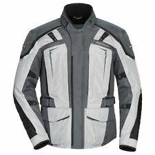 Tourmaster Transition Series 5 Mens Motorcycle Jacket Light Gray/Gunmetal