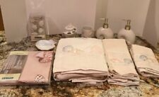 Captiva Shell Nautical Ocean Beach 13 Piece Bathroom Set -NEW