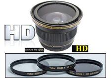 Elite Hi Def Fisheye Lens and 3-Pc Filter Set For Nikon D3500 D5600