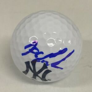 Dwight Doc Gooden Signed New York Yankees Logo Golf Ball Autographed AUTO