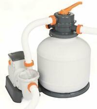 Bestway Flowclear 58497 Pompa Filtro a Sabbia per Piscine - Bianca/Grigia
