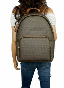 MICHAEL KORS ERIN LARGE BACKPACK MK SIGNATURE BROWN (LAPTOP WILL FIT)