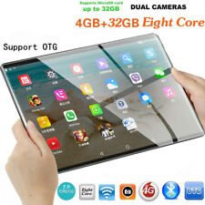 10.1'' Tablet PC Android 7.0 Eight Core 4+32GB HD Wifi 2 SIM 4G Phablet FG