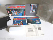 Metal Storm Nintendo  NES Rare Complete with poster