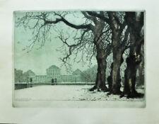 1911 Nymphenburg München Getönte Original-Radierung von Luigi Kasimir